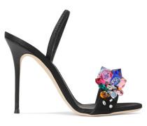Mistico Slingback-sandalen Aus Satin Mit Kristallen -
