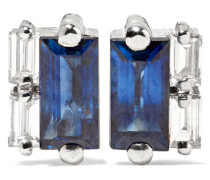 Ohrringe aus 18 Karat  mit Saphiren und Diamanten