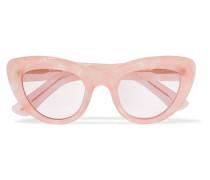 May Sonnenbrille Mit Cat-eye-rahmen Aus Azetat Mit Glitter-finish -