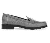 Loafers Aus Leder Mit Eidechseneffekt - Grau