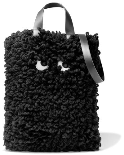 Anya Hindmarch Damen Schultertasche aus Wolle mit Lederbesatz  Spitzenreiter  Verkaufsschlager Bestseller Günstig Kaufen Low-Cost UFDztN