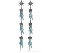 farbene Ohrringe Mit Swarovski-kristallen Und Kunstperlen