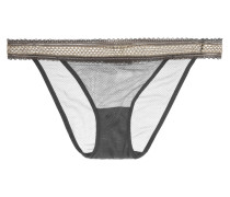 Crips Höschen Aus Stretch-mesh Mit Lurex®-einsatz - Dunkelgrau