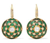 Ohrringe Aus 18 Karat Gold Mit Mehreren Steinen -