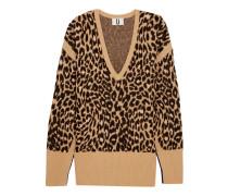 Exhall Pullover aus Jacquard-Strick mit Leoparden-Intarsienmotiv
