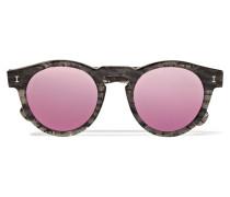 Leonard Verspiegelte Sonnenbrille Mit Rundem Rahmen Aus Azetat Mit Glitter-effekt -