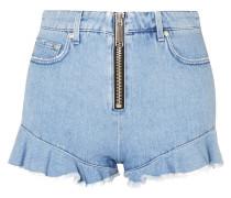 Jeansshorts Mit Rüschen -