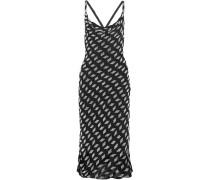 Kleid Aus Seidenchiffon Mit Perlenverzierung -