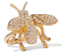 Vergoldeter Ring Mit Kristallen