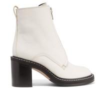 Shelby Ankle Boots Aus Leder - Elfenbein