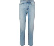 The Perfect Summer Verkürzte, Hoch Sitzende Jeans mit Geradem Bein -