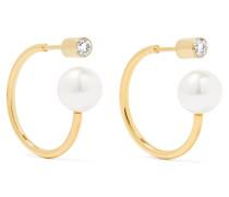 Boucle Ohrringe Aus 14 Karat  Mit Perlen Und Diamanten