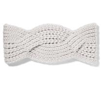 Haarband Aus Kaschmir Mit Zopfstrickmuster -