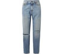 Boyfriend-jeans In Distressed-optik -