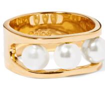 Darcey farbener Ring Mit Swarovski-perlen