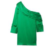Serina Minikleid aus Stretch-seidensatin mit Asymmetrischer Schulterpartie -