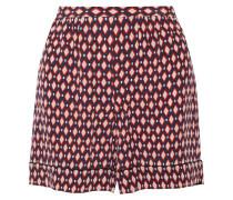 Bedruckte Shorts Aus Crêpe De Chine Aus Seide - Rot