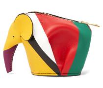 Elephant Portemonnaie Aus Gestreiftem Leder -