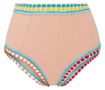 Luny Hoch Sitzendes Bikini-höschen Mit Häkelbesatz -