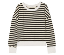 West Village Verziertes, Gestreiftes Jersey-sweatshirt aus einer Baumwollmischung in Distressed-optik