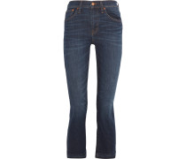 Cali Demi Boot verkürzte, halbhohe Jeans