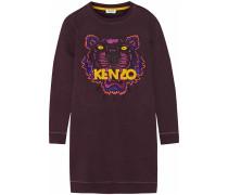Minikleid In Sweatshirt-optik Aus Baumwolle Mit Tiger-stickerei - Plaume