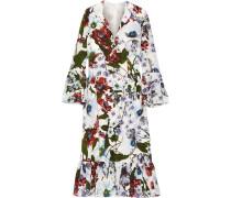 Connie Floral Bedrucktes Kleid Aus Crêpe De Chine Aus Seide -