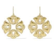 Kaliyana Lotus Ohrringe aus 18 Karat  mit Topasen und Diamanten