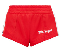 Shorts Aus Glänzendem Jersey Mit Streifen -