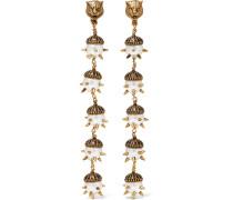 Vergoldete Ohrclips mit Kunstperlen