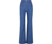 Erania hoch sitzende Jeans mit geradem Bein