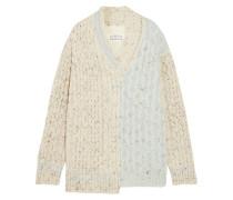Oversized-pullover Aus Einer Woll-baumwollmischung In Patchwork-optik -