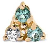 Ohrring aus 14 Karat  mit Turmalinen und Einem Diamanten