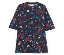 Oversized-t-shirt Aus Baumwoll-jersey Mit Floralem Print -