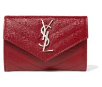 Gestepptes Portemonnaie aus Strukturiertem Leder -
