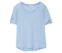 T-shirt Aus Stretch-jersey - Hellblau