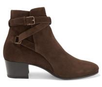 Ankle Boots Aus Veloursleder - Schokoladenbraun