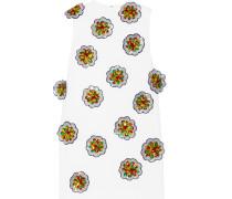 Minikleid Aus Crêpe Mit Paillettenbesatz In Blumenmuster - Elfenbein