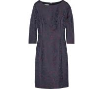 Kleid Aus Jacquard Aus Einer Wollmischung - Navy