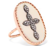 Bowie N°3 Ring aus 9 Karat  mit Diamanten und Bakelit®