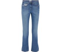 Halbhohe Jeans Mit Geradem Bein - Blau
