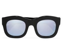 Hamilton Verspiegelte Sonnenbrille Mit Eckigem Rahmen Aus Azetat -