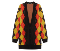 Oversized-cardigan Aus Wolle Mit Argyle-muster -