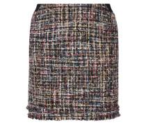 Minirock aus Bouclé-Tweed in Metallic-Optik