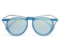 Marguerite Verspiegelte Pilotensonnenbrille Aus Metall - Blau