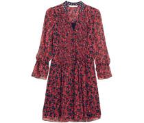 Kourtni Bedrucktes Minikleid Aus Seiden-georgette - Rot