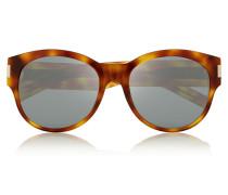 Oversized-sonnenbrille Mit Cat-eye-rahmen Aus Azetat - Horn