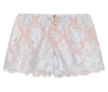 Sweet Sumatra Pyjama-shorts Aus Spitze Und Seidenchiffon - Himmelblau