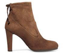 Glove Ankle Boots Aus Stretch-veloursleder - Braun