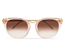 Hinky Goldfarbene Sonnenbrille Mit Cat-eye-rahmen Aus Azetat -